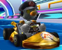 A screenshot of Robo Mario from Mario Kart Arcade GP 2