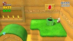 Luigi sighting found in Really Rolling Hills in Super Mario 3D World.