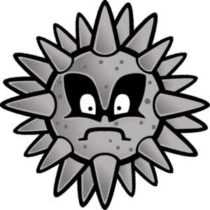 Sprite of a Spiny Tromp from Super Paper Mario.