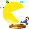 Pac-Man's Final Smash trophy, from Super Smash Bros. for Wii U.