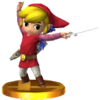 Toon Link's alternate trophy, from Super Smash Bros. for Nintendo 3DS.