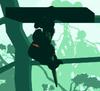 Donkey Kong, pulling a Vine-Triggered Platform downward