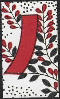 Second card of July in the Club Nintendo Hanafuda deck.