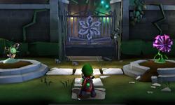 The Courtyard segment from Luigi's Mansion: Dark Moon.