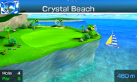 Hole 4 of Crystal Beach from Mario Sports Superstars