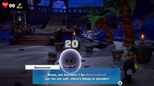 Booccaneer, a Boo from Luigi's Mansion 3.