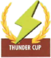 Mario Kart: Super Circuit promotional artwork: The Lightning Cup emblem.