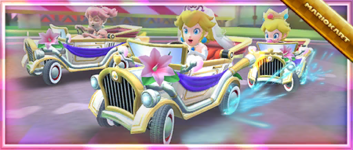 The Peach Tour Commemorative Kart: Happy Ride! pack from the Peach Tour in Mario Kart Tour