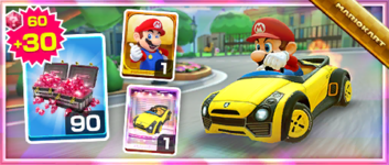 The Sports Coupe Pack from the 1st Anniversary Tour in Mario Kart Tour