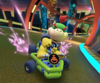 The icon of the Toadette Cup challenge from the 2019 Halloween Tour and the Birdo Cup challenge from the Sunset Tour in Mario Kart Tour