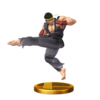 Ryu trophy from Super Smash Bros. for Wii U