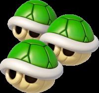 Triple Green Shells in Mario Kart 8