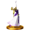 Zelda trophy from Super Smash Bros. for Wii U