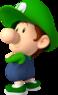 Artwork of Baby Luigi from Mario Kart Wii (also used in Mario Super Sluggers and Mario Kart Tour)