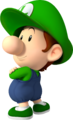 Artwork of Baby Luigi from Mario Kart Wii (also used in Mario Super Sluggers and Mario Kart Tour)