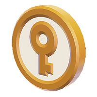A Key Coin from Super Mario 3D World.