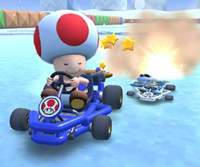 The icon of the Toad Cup's challenge from the 2020 Yoshi Tour in Mario Kart Tour.