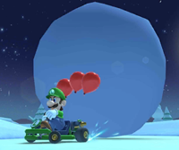 The Luigi Cup Challenge from the Ice Tour of Mario Kart Tour