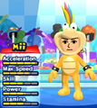 A Lemmy Koopa costume for Miis in the Wii version of Mario & Sonic at the London 2012 Olympic Games.