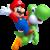Artwork of Mario and Yoshi, from New Super Mario Bros. U.