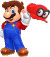 Artwork of Mario, from Super Mario Odyssey.