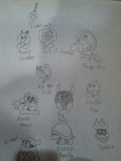 Sketch for 'Shroom Music & Art for August 2011. Drawn by YoshiGo99 (talk)