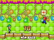 Mario and Luigi hitting the 99 Block in Mario & Luigi: Bowser's Inside Story and Mario & Luigi: Bowser's Inside Story + Bowser Jr.'s Journey