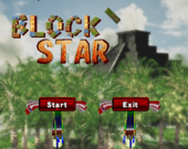 Title screen of the Block Star minigame from WarioWare: Smooth Moves.