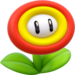 Artwork of a Fire Flower from Super Mario 3D World.