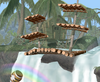 A view of Kongo Jungle from Super Smash Bros. Melee.