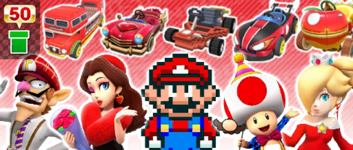 The Red-Hot Pipe from the Frost Tour in Mario Kart Tour