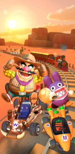 Promotional art of the Wild West Tour from Mario Kart Tour.