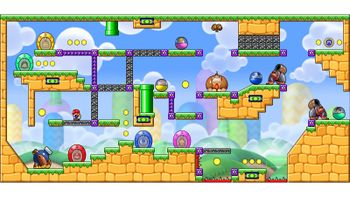 Miiverse screenshot of the 36th official level in the online community of Mario vs. Donkey Kong: Tipping Stars