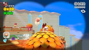 Luigi hidden in Switchboard Falls in Super Mario 3D World.