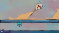 Land in the Sand, one of Wario's microgames in WarioWare: Get It Together!