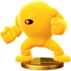Yellow Devil trophy from Super Smash Bros. for Wii U