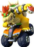Artwork of Bowser, from Mario Kart 8.