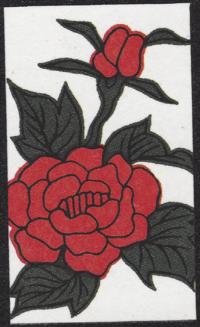 Fourth card of June in the Club Nintendo Hanafuda deck.