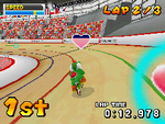 Gameplay of the Pursuit event in Mario & Sonic at the Olympic Games for Nintendo DS.