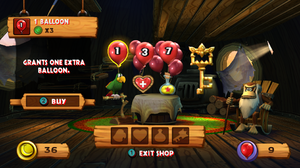 Cranky Kong's Shop as it appears in Donkey Kong Country Returns