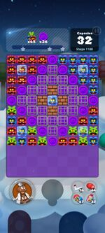 Stage 1188 from Dr. Mario World