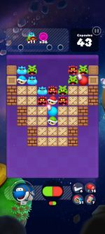 Stage 305 from Dr. Mario World since version 2.0.0