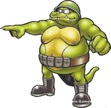 General Klump's artwork, as seen in the trading card series.