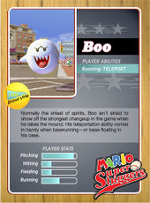 Level 1 Boo card from the Mario Super Sluggers card game