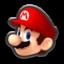 Mario's head icon in Mario Kart 8
