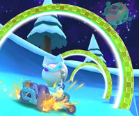 The icon of the Baby Mario Cup challenge from the Rosalina Tour in Mario Kart Tour