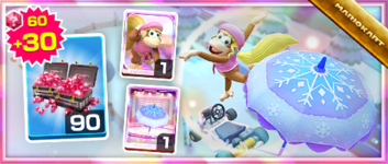 The Dixie Kong Pack from the Frost Tour in Mario Kart Tour