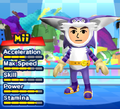 A Big the Cat costume for Miis in the Wii version of Mario & Sonic at the London 2012 Olympic Games.