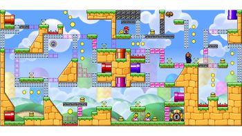 Miiverse screenshot of the 80th official level in the online community of Mario vs. Donkey Kong: Tipping Stars