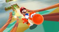 An early E3 2009 screenshot of Super Mario Galaxy 2.